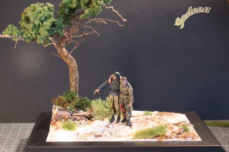 Petite scenette pour mon duo Panzer creew de chez Jaguard au 1/35ème Blessy15