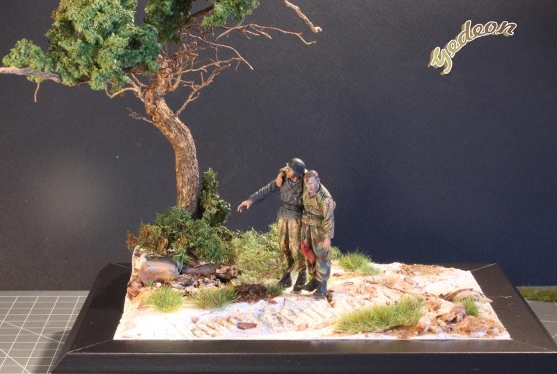 Petite scenette pour mon duo Panzer creew de chez Jaguard au 1/35ème Blessy16