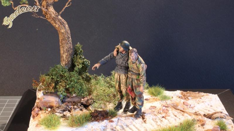 Petite scenette pour mon duo Panzer creew de chez Jaguard au 1/35ème Blessy17