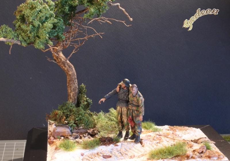 Petite scenette pour mon duo Panzer creew de chez Jaguard au 1/35ème Blessy18