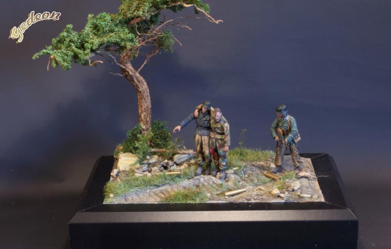 Petite scenette pour mon duo Panzer creew de chez Jaguard au 1/35ème Blessy19