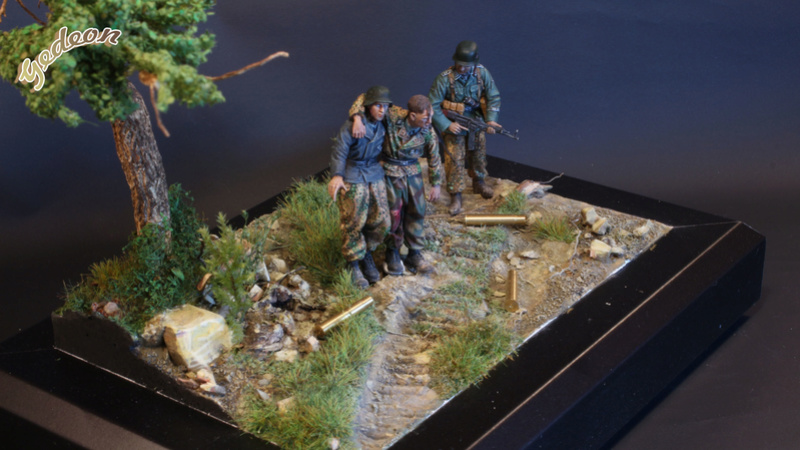 Petite scenette pour mon duo Panzer creew de chez Jaguard au 1/35ème Blessy20