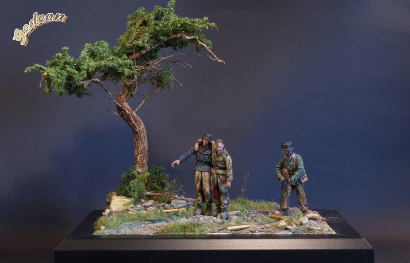 Petite scenette pour mon duo Panzer creew de chez Jaguard au 1/35ème Blessy22
