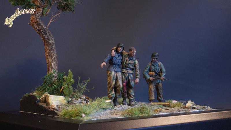 Petite scenette pour mon duo Panzer creew de chez Jaguard au 1/35ème Blessy23