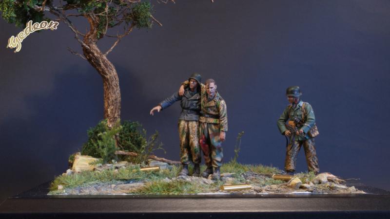 Petite scenette pour mon duo Panzer creew de chez Jaguard au 1/35ème Blessy24
