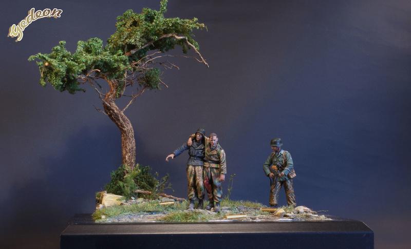 Petite scenette pour mon duo Panzer creew de chez Jaguard au 1/35ème Blessy25