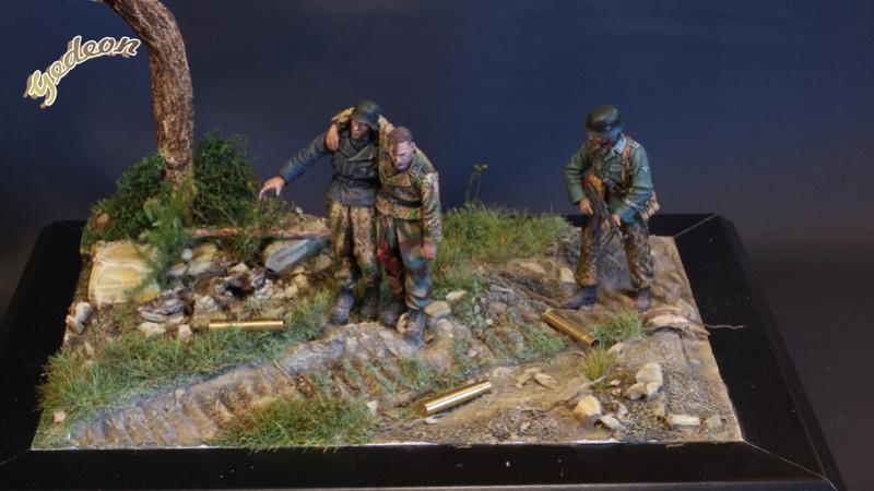 Petite scenette pour mon duo Panzer creew de chez Jaguard au 1/35ème Blessy26