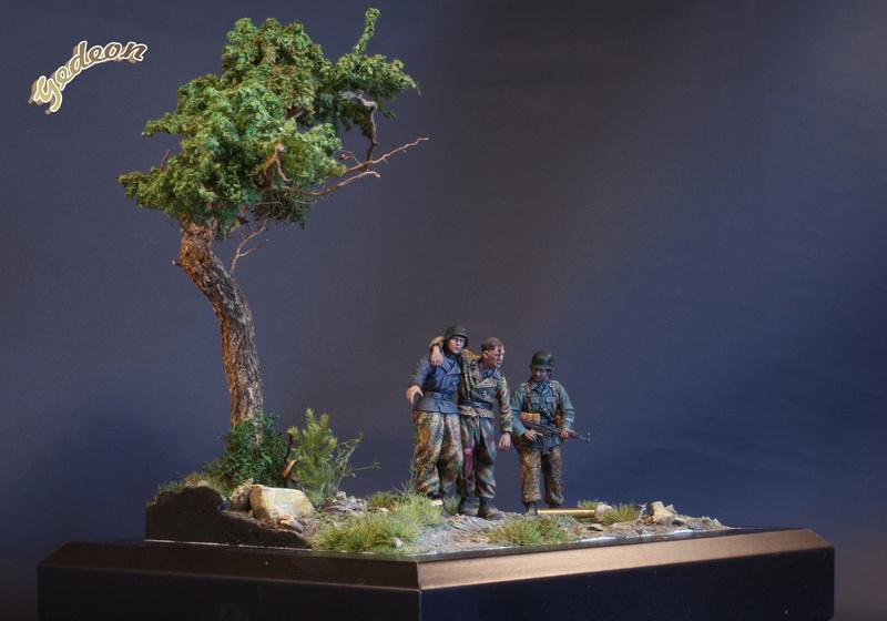 Petite scenette pour mon duo Panzer creew de chez Jaguard au 1/35ème Blessy27