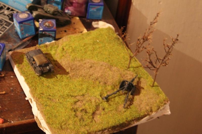 Diorama d'un leFH 18 en batterie au 1/72 Thumb334