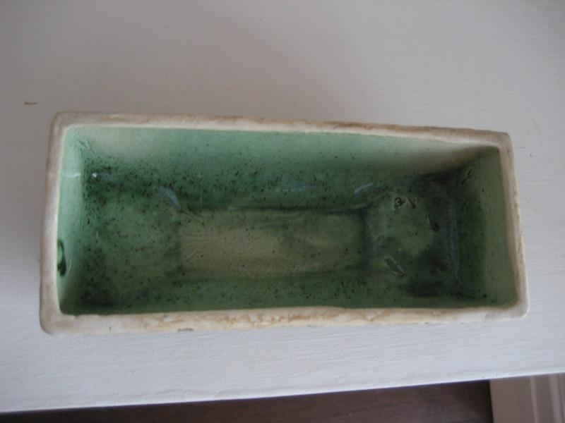 Rectangular Pot Green Glazed Interior Img_4120