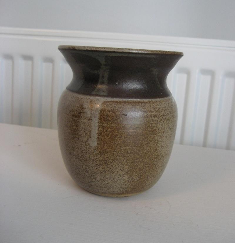 Small Stoneware Vase.  Stamp BS or JBS - John Brooke Steel Img_4125
