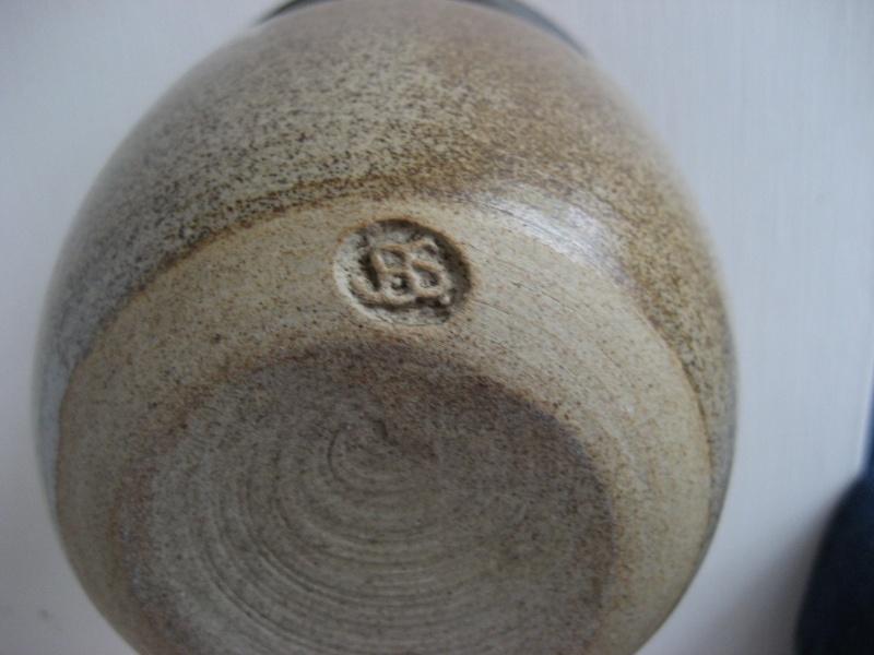 Small Stoneware Vase.  Stamp BS or JBS - John Brooke Steel Img_4213