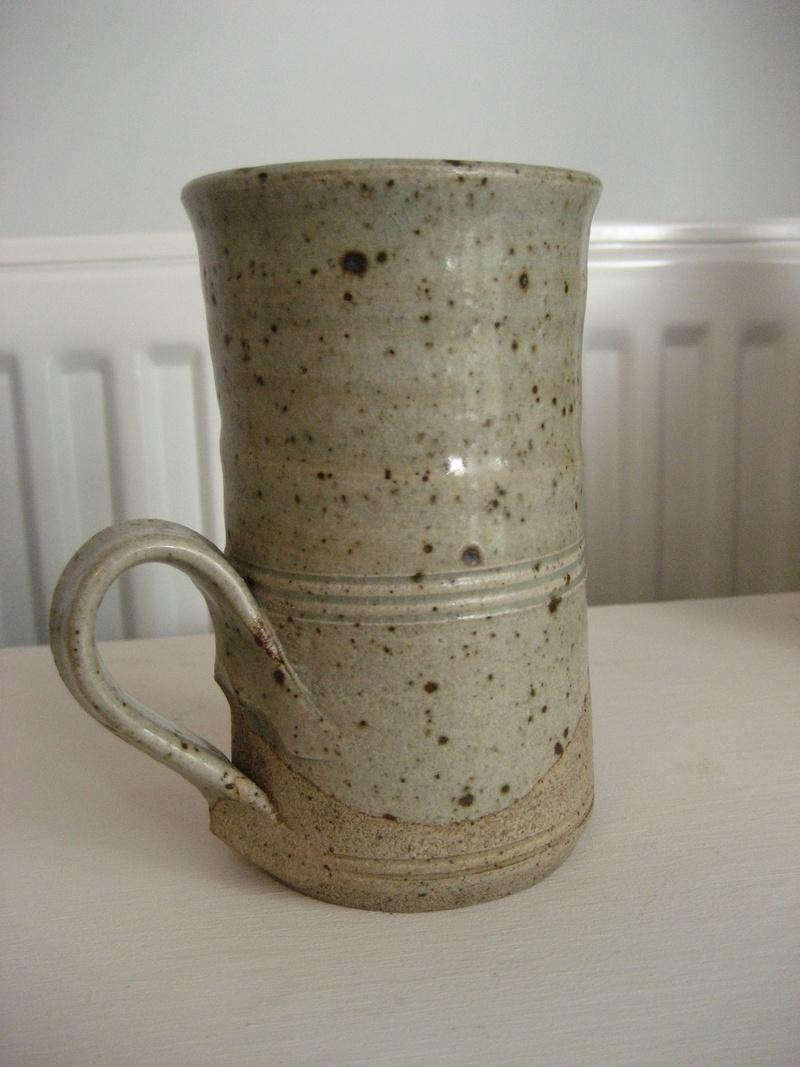 Tall Stoneware Mug Stamped EJW - John Wheeldon Img_4218