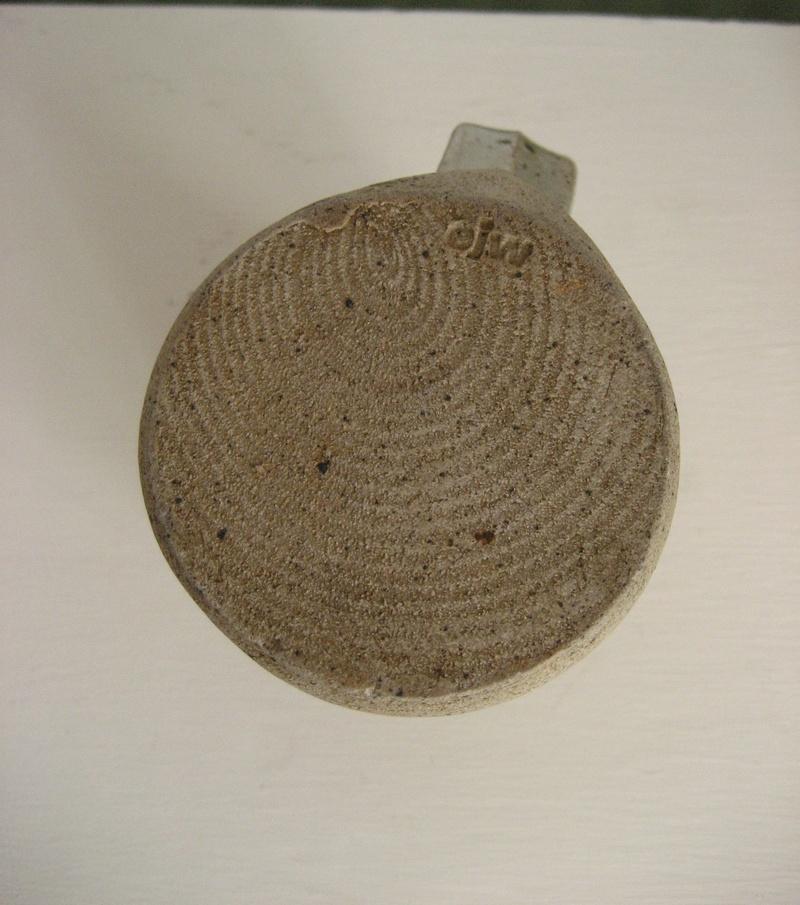 Tall Stoneware Mug Stamped EJW - John Wheeldon Img_4219