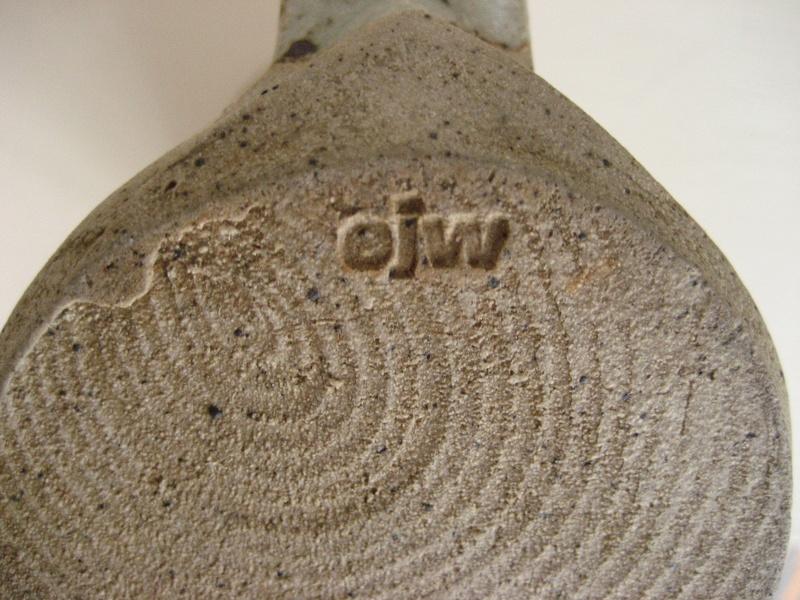 Tall Stoneware Mug Stamped EJW - John Wheeldon Img_4220