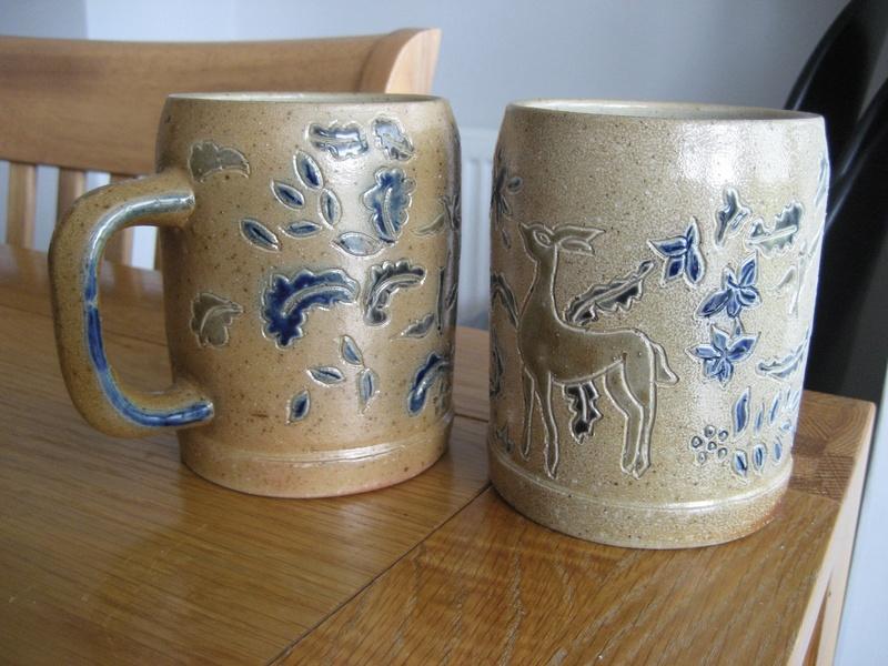 Two Portugese Buraco Aveiro Mugs/Tankards Salt Glazed Stoneware Info?  Img_4524