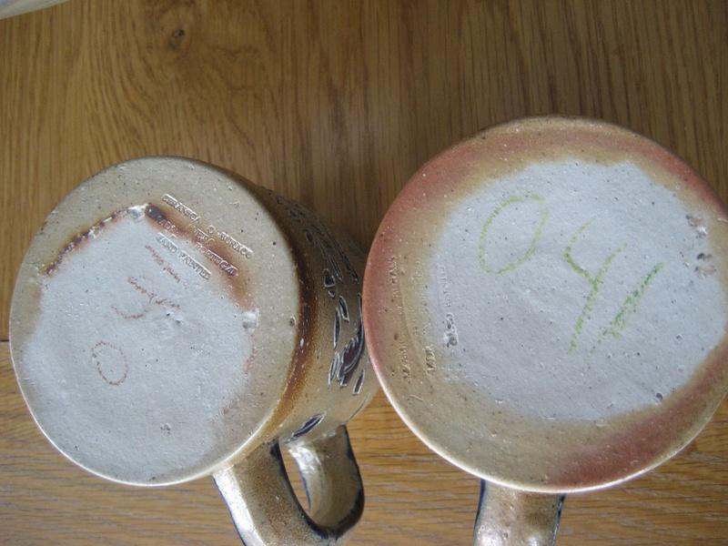 Two Portugese Buraco Aveiro Mugs/Tankards Salt Glazed Stoneware Info?  Img_4525