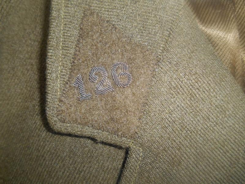 Vareuse officier 126e RI réutilisée période Libé - ESC 2 - VENDUE Dscn9140