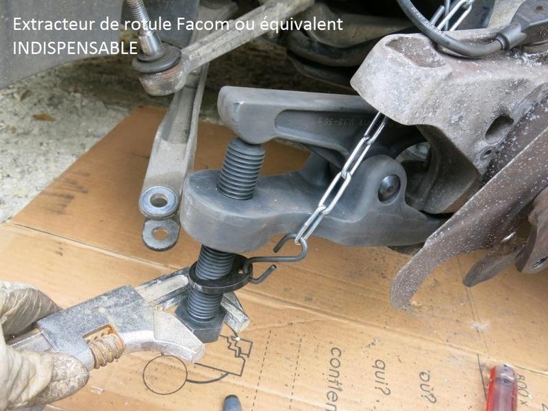 remplacement des bras de suspensions + hub/étriers de freins AV 1210