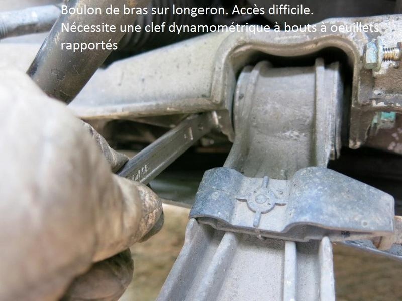 remplacement des bras de suspensions + hub/étriers de freins AV 1510