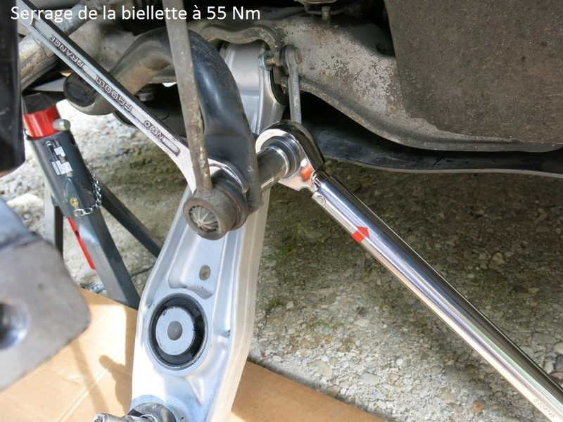 remplacement des bras de suspensions + hub/étriers de freins AV 2210