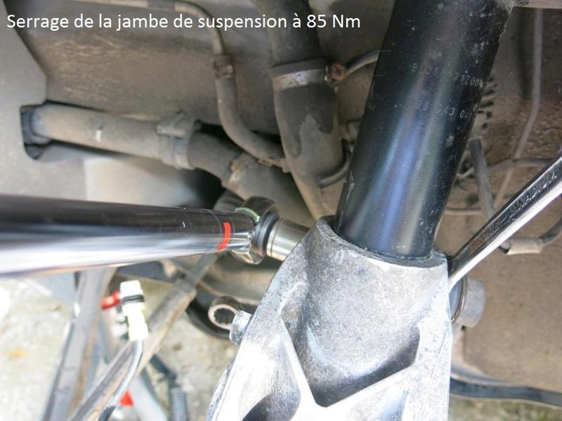 remplacement des bras de suspensions + hub/étriers de freins AV 2310