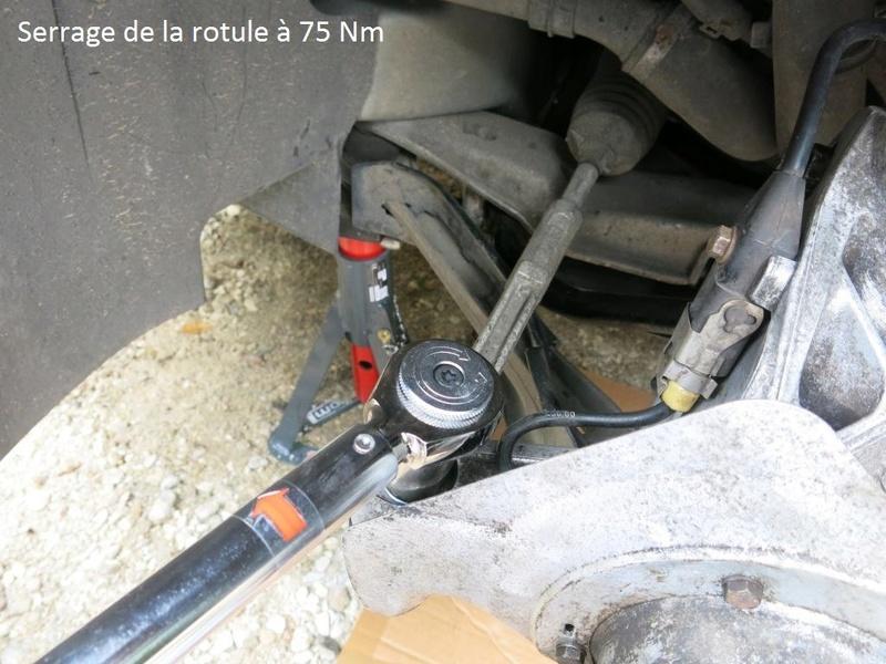 remplacement des bras de suspensions + hub/étriers de freins AV 2510