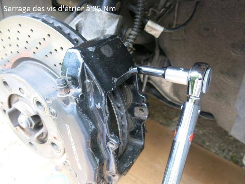 remplacement des bras de suspensions + hub/étriers de freins AV 2610