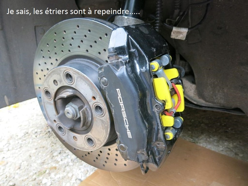 remplacement des bras de suspensions + hub/étriers de freins AV 2710