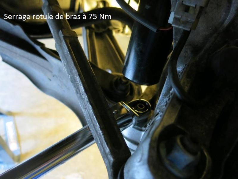 remplacement des bras de suspensions + hub/étriers de freins AV 2910
