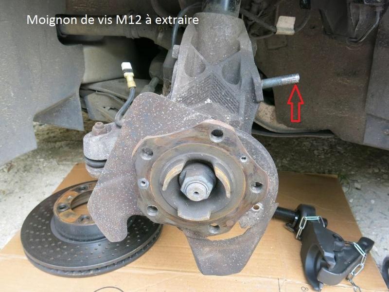 remplacement des bras de suspensions + hub/étriers de freins AV 310