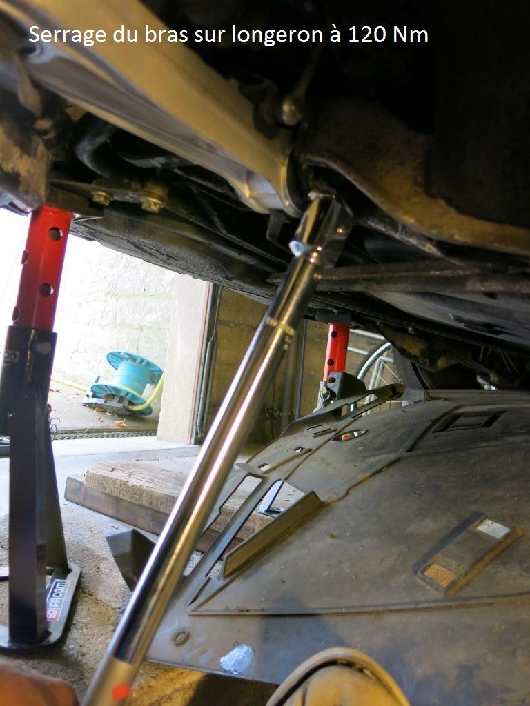 remplacement des bras de suspensions + hub/étriers de freins AV 3210