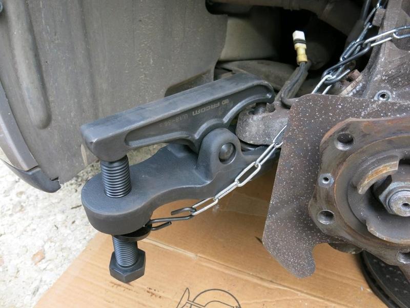 remplacement des bras de suspensions + hub/étriers de freins AV 510