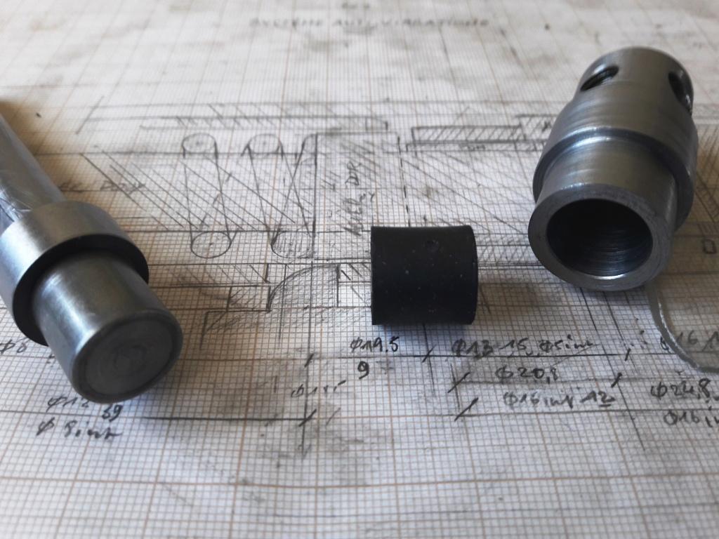Butée de ressort anti-vibratoire fabrication maison..  20190627
