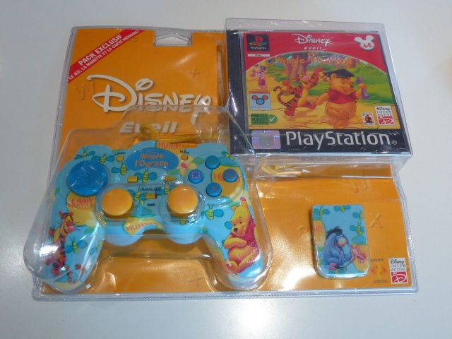 Recherche Pack Playstation 1 sous blister rigide Disney Winnie10