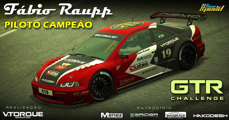 Fábio Raupp, campeão do GTR Challenge! Banner15