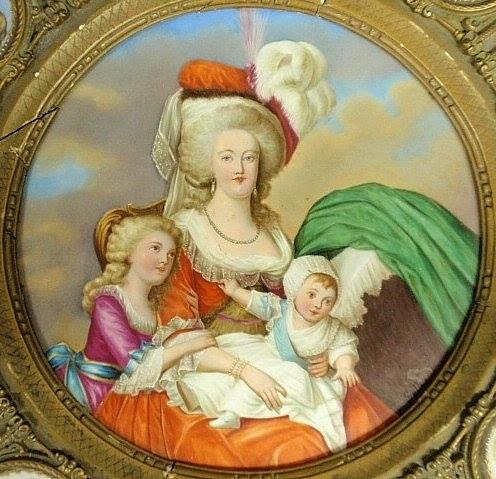 Déclinaisons faites d'après le portrait de Marie Antoinette et ses enfants de Vigée Lebrun Zmac11