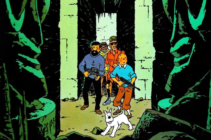Identification Arme dans un classique : Vol 714 pour Sydney Tintin10