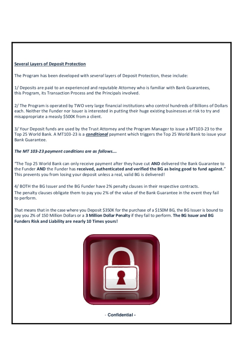 """Public Documents From VFI From Public Websites. """"A Scammers Nightmare?"""" 12-1010"""