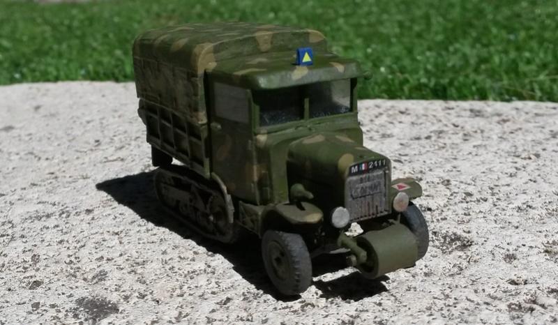 Canon de 105 L modèle 36 Schneider et tracteur Somua MCG 5 au 1/72 20160811