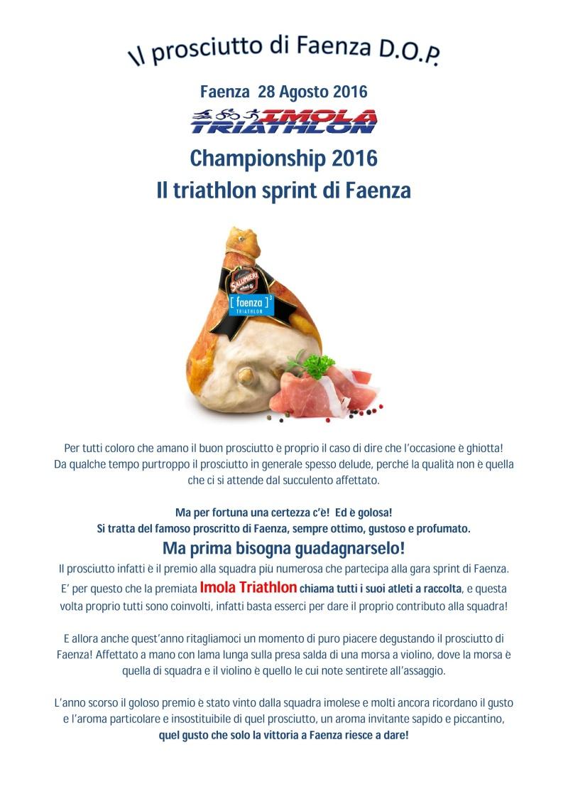 Campionato sociale 2016 - 9° Prova - Domenica 28/08/2016 - Sprint di Faenza Il_pro10