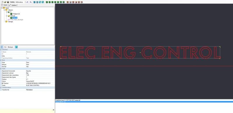 DXF -> Problème de taille de police El110