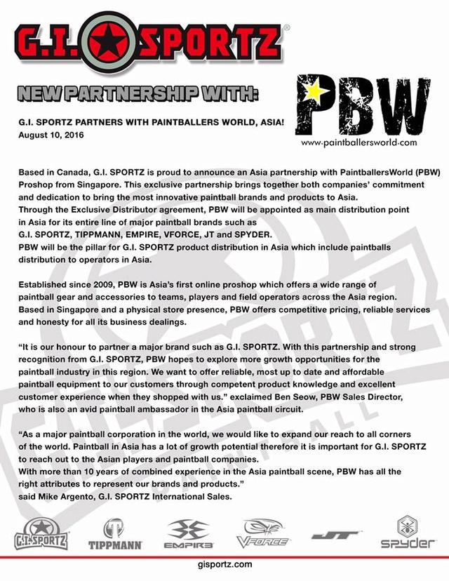 GI Sportz / Paintballworld Asia Partenariat.  Parten10