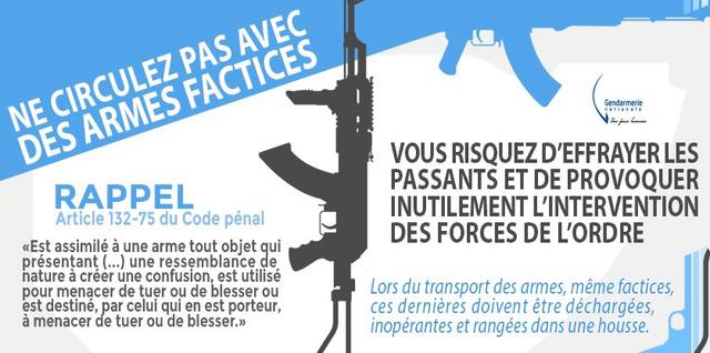 Attention: Le port de répliques d'armes sur la voie publique est interdit.!  Repliq10