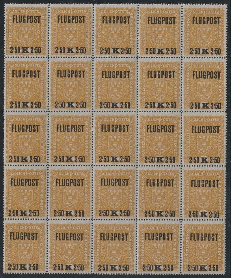 FLUGPOSTMARKEN-AUSGABE 1918  25_blo12