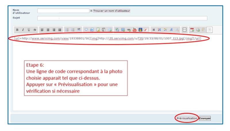 Comment insérer une photo/image Etape610