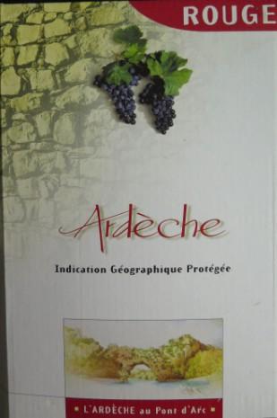 Cave En Ligne Vins.Fra.Co - Vin Rouge de l'Ardèche -  IGP - Bib 5 L -  Très bonne qualité  -  Vin_ro10