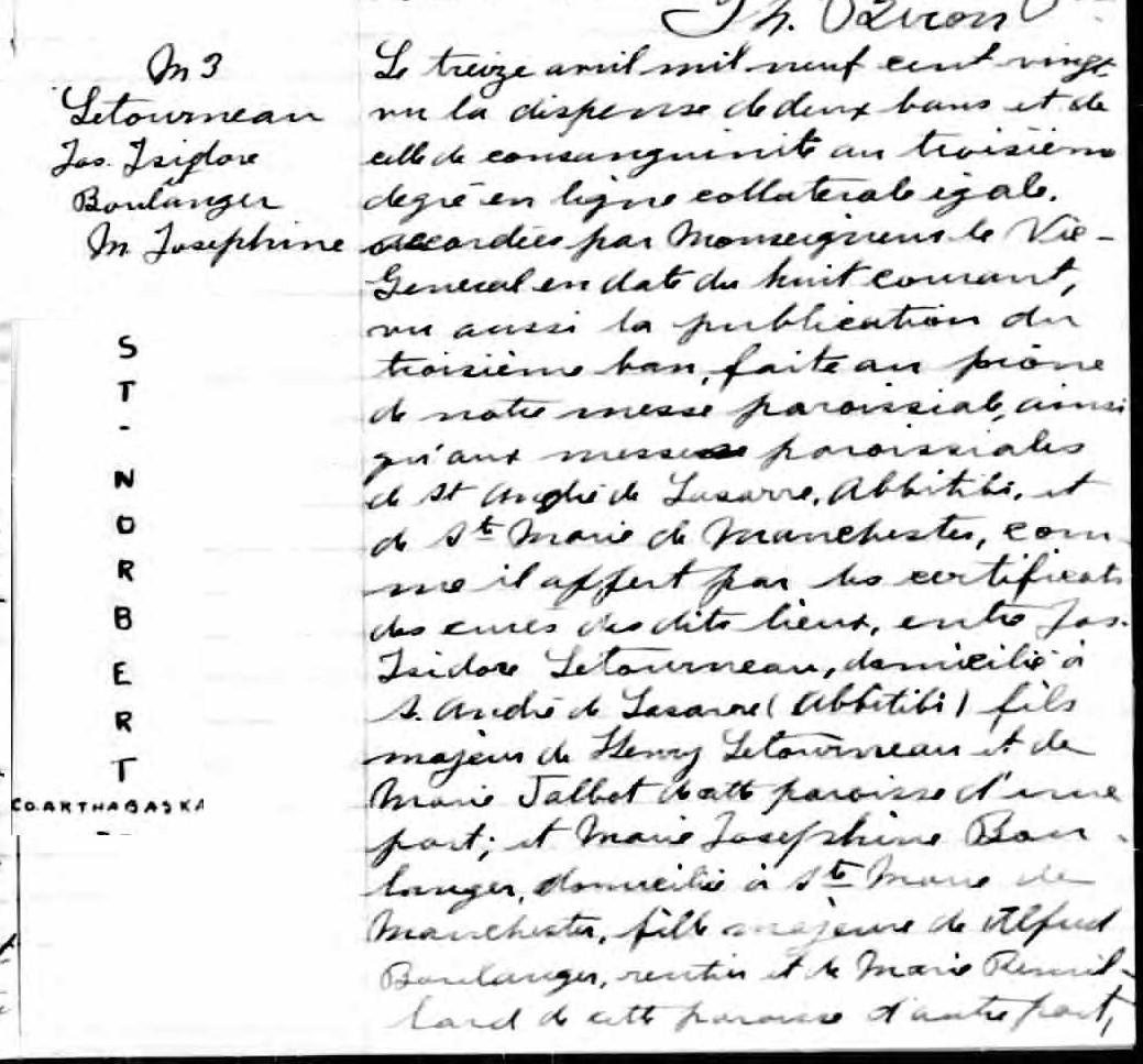 Romeo Letourneau & Emma Fortin vers 1919 (Recherche de mariage) D13p_610