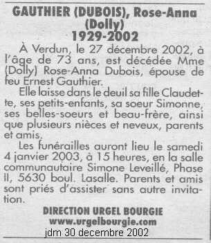 Mariage de William Dubois & Angèle Gaspard Deces_17