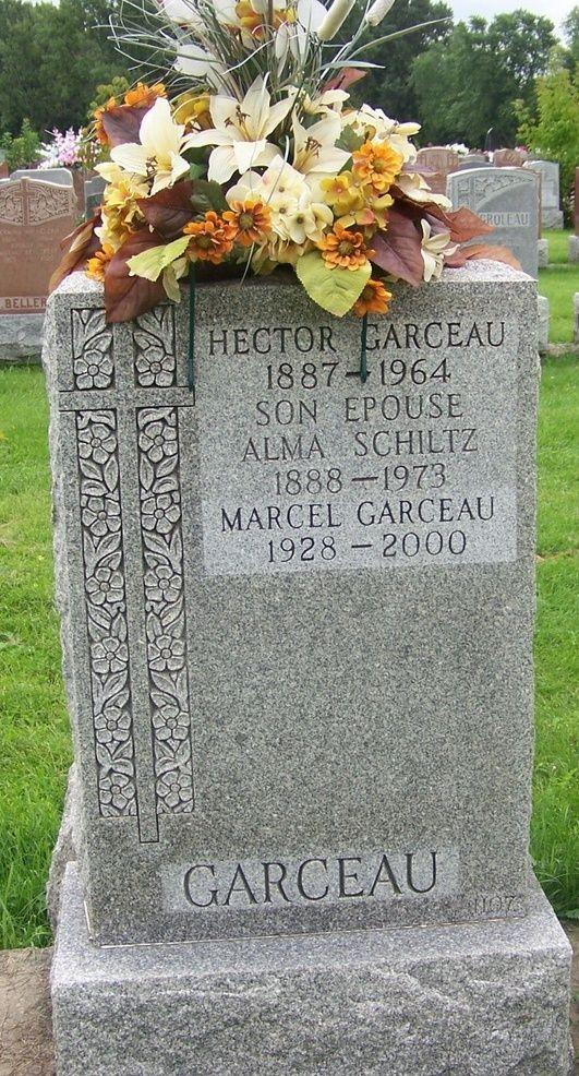 Qui sont les parents de Robert Garceau, décédé en février 2003 Garcea10